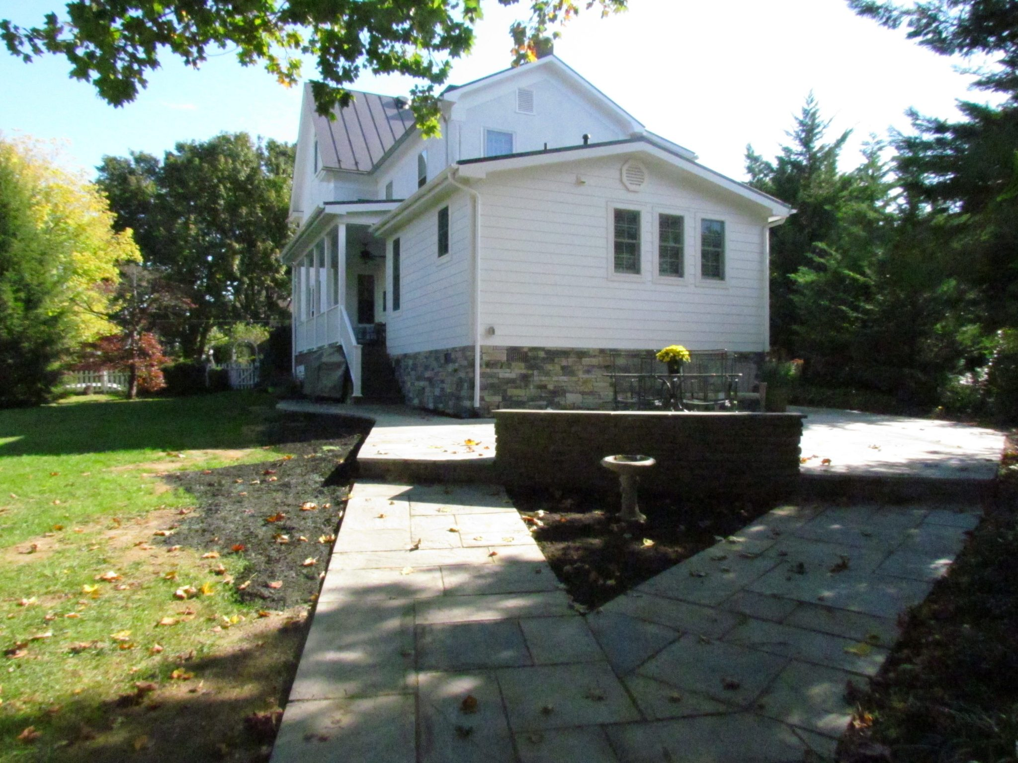 Historic Addition stone walkway and patio