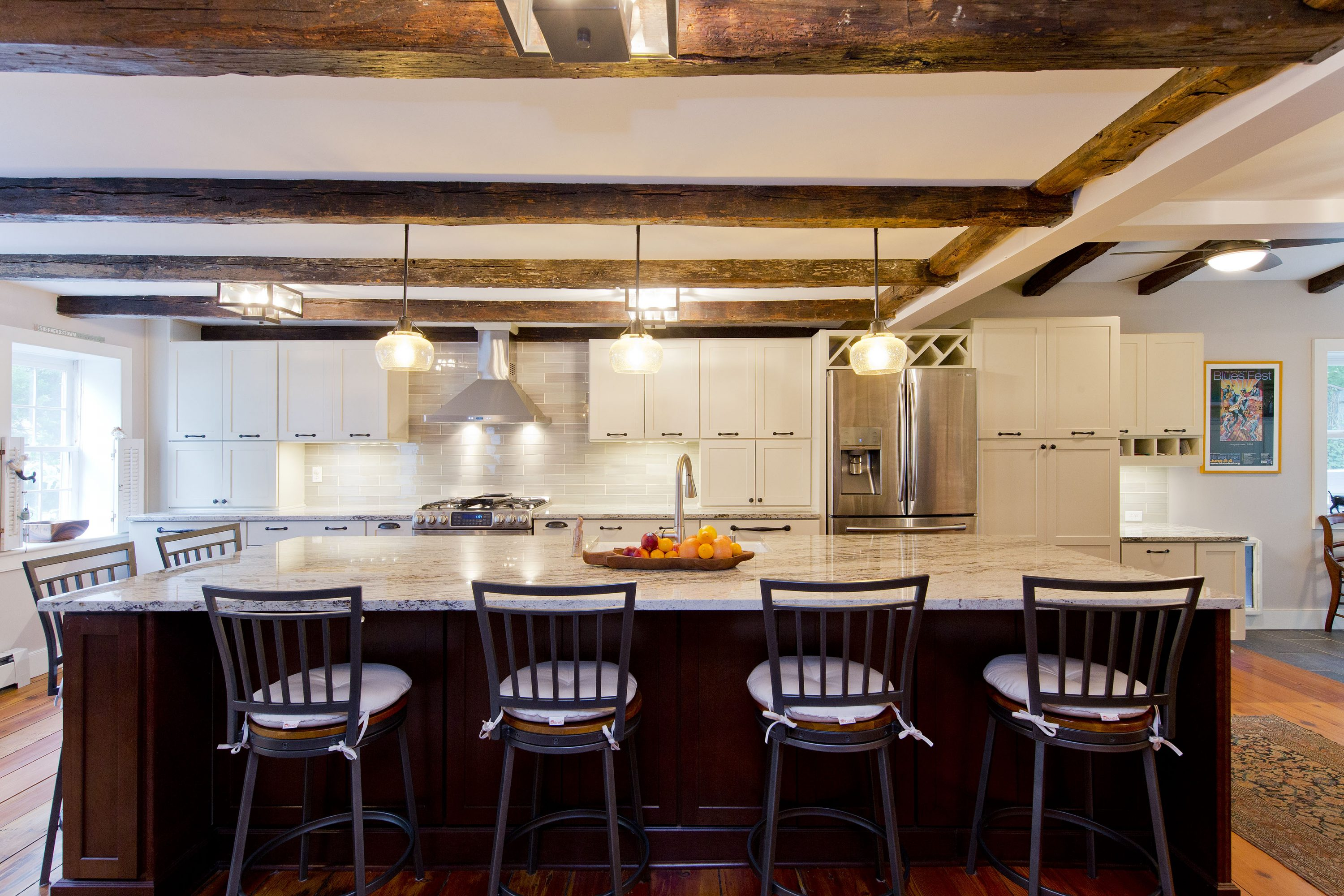 Award Winning Historic Renovation kitchen island