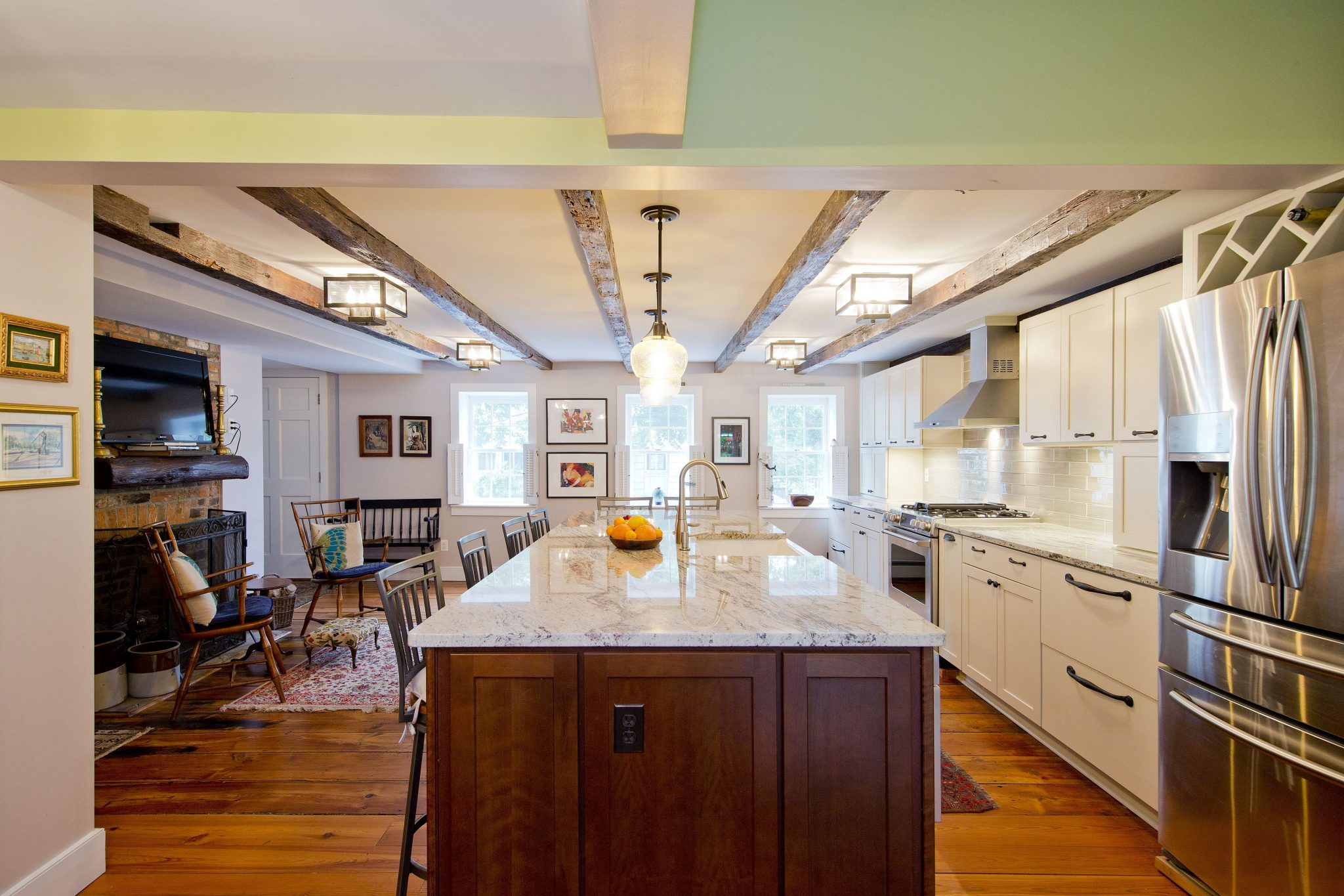 Award Winning Historic Renovation kitchen side view