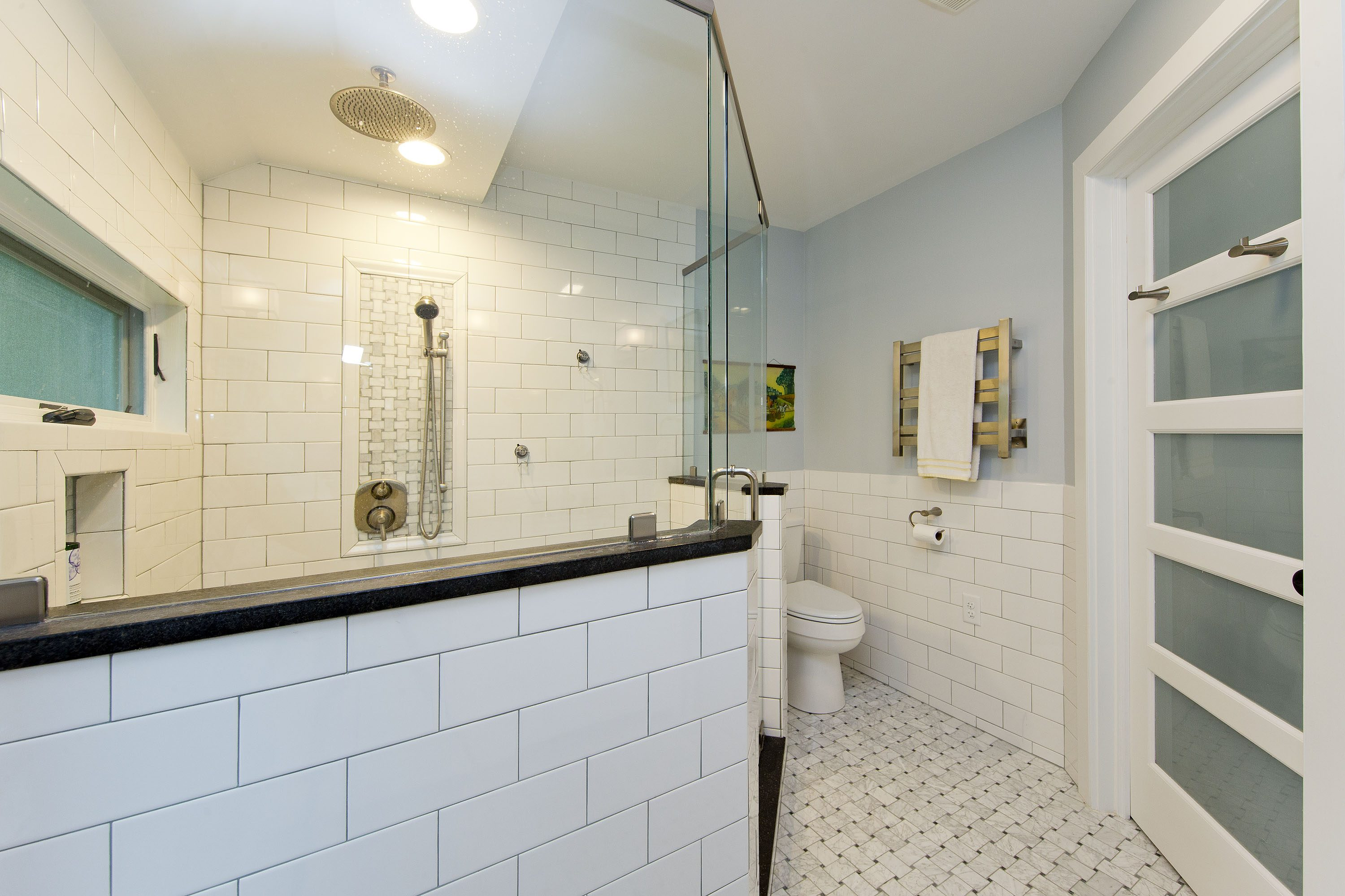 Award Winning Historic Renovation bathroom shower and door