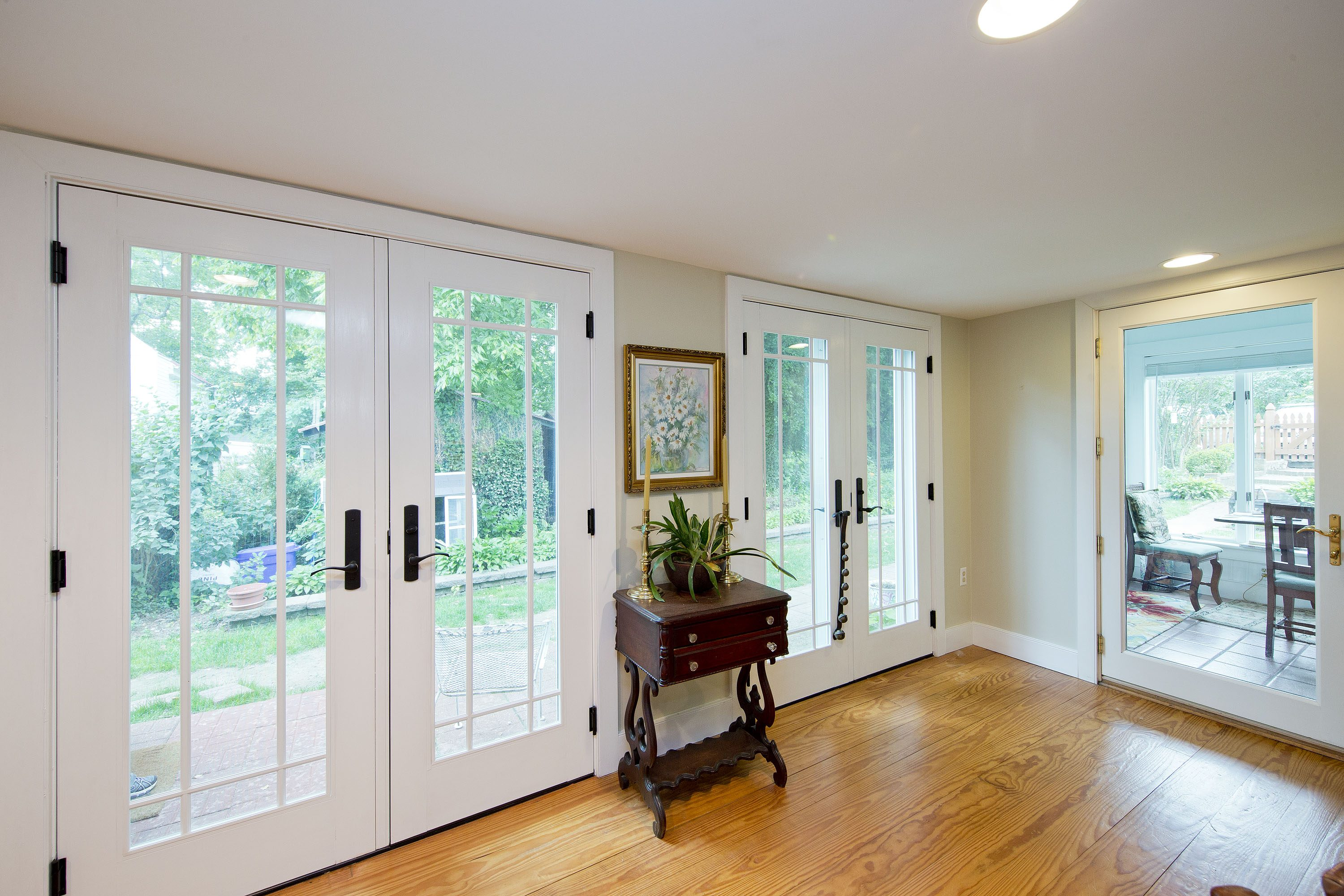 Award Winning Historic Renovation glass doors
