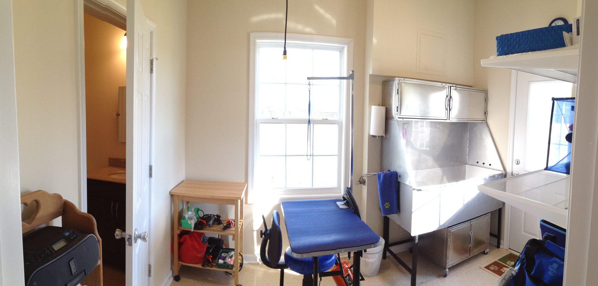 Award Winning In-Law Suite Garage work area