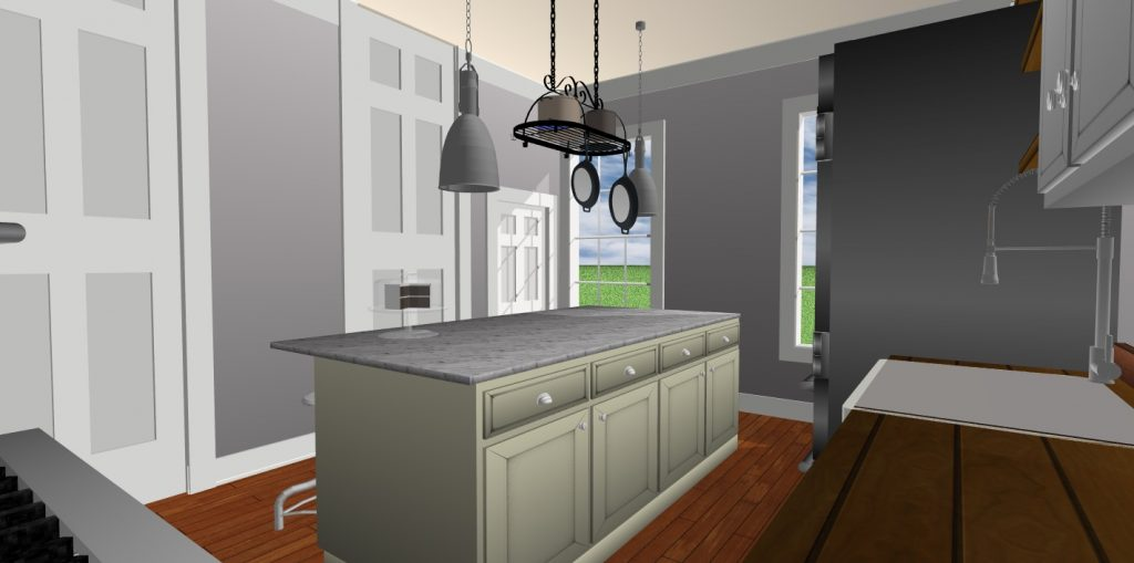 JC Smith Design kitchen and doors model