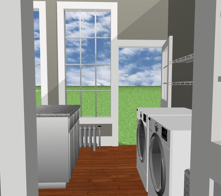 JC Smith Design laundry room model