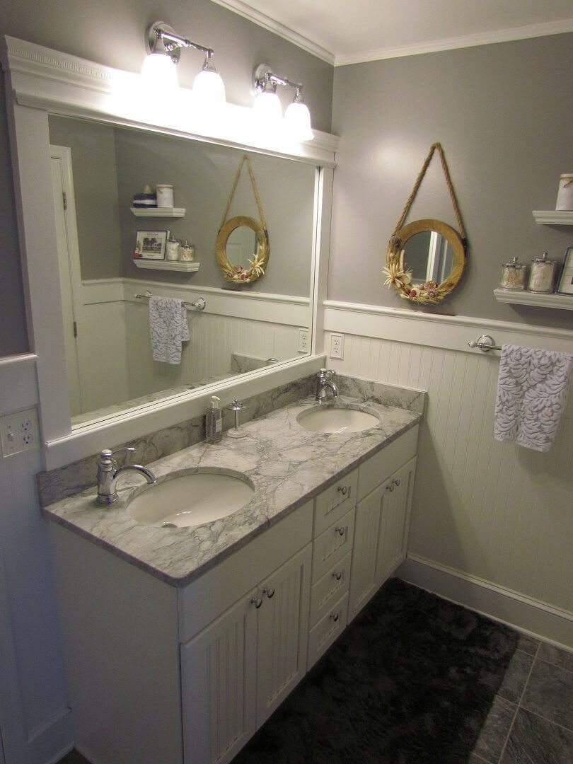 Hall Bathroom With A Beachy Feeling vanity