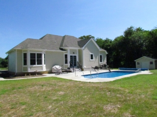 Custom Home With In-Ground Pool back yard