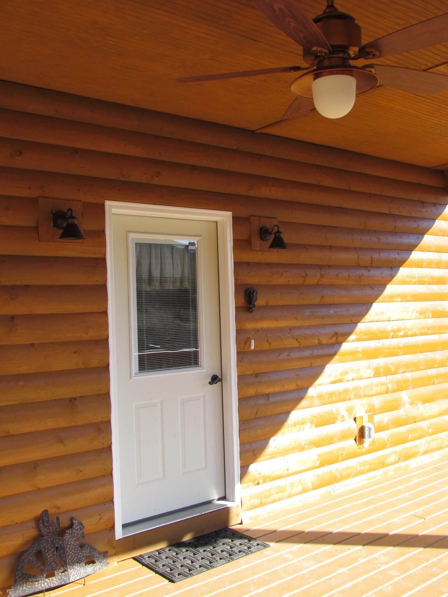 Cedar Siding Custom Home front door