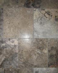 Masculine Transitional Finished Basement tile