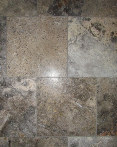 Masculine Transitional Finished Basement tile