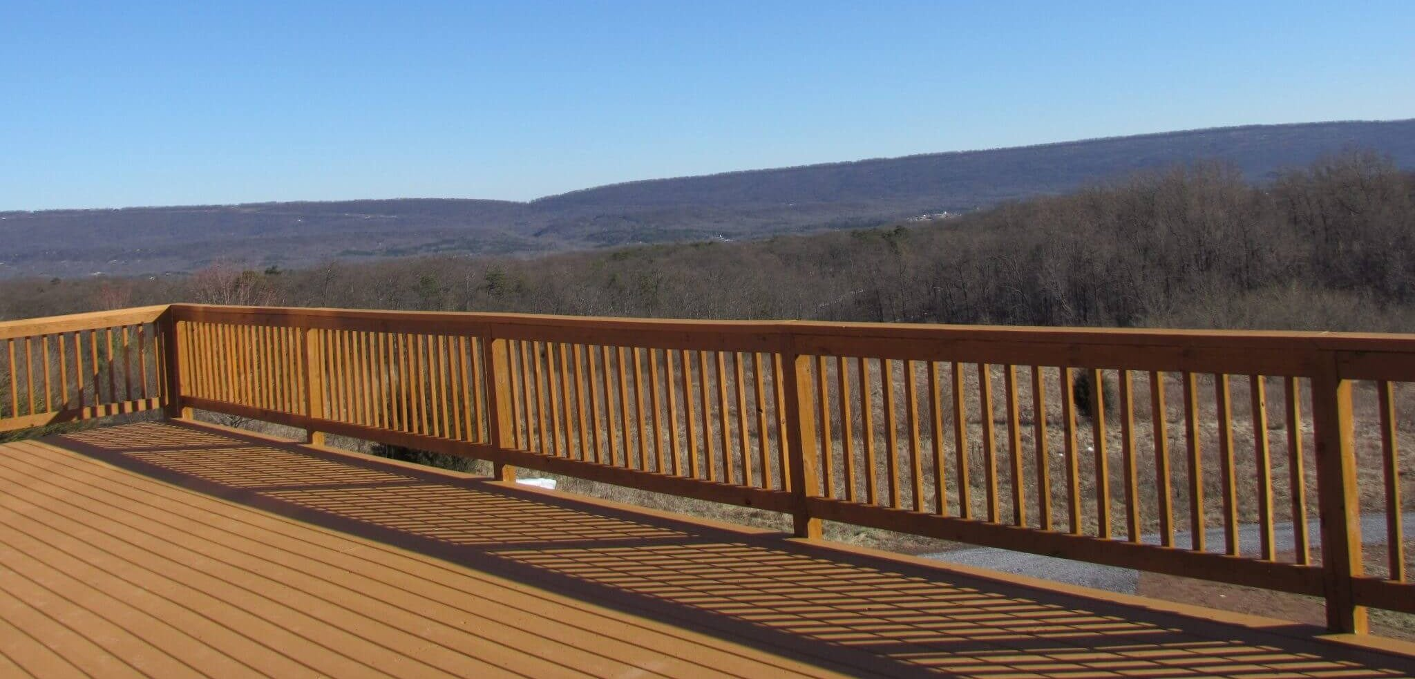 Cedar Siding Custom Home Deck
