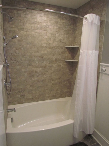 Hall Bathroom With A Beachy Feeling shower