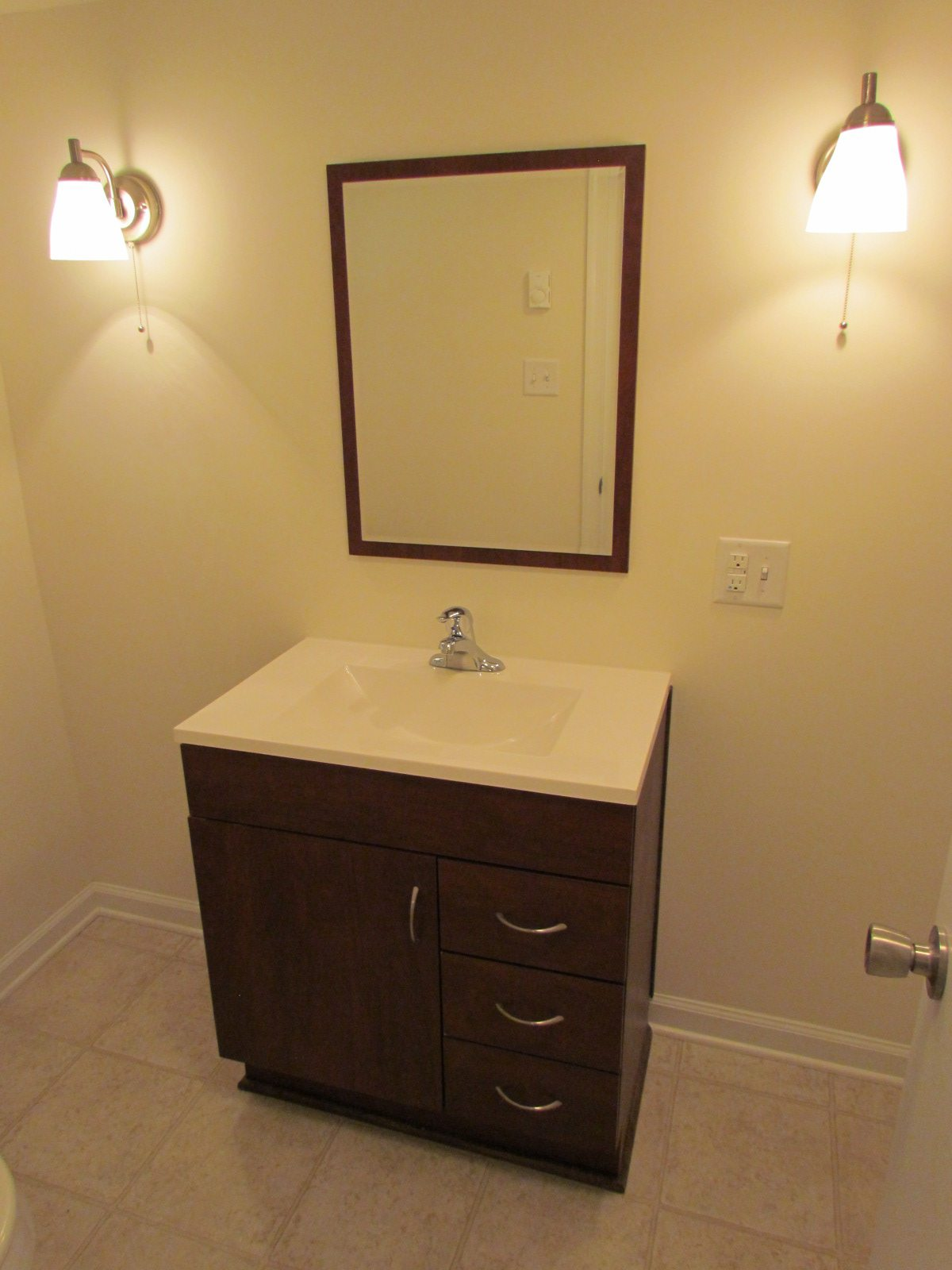 Historic Renovation Before And After bathroom vanity after
