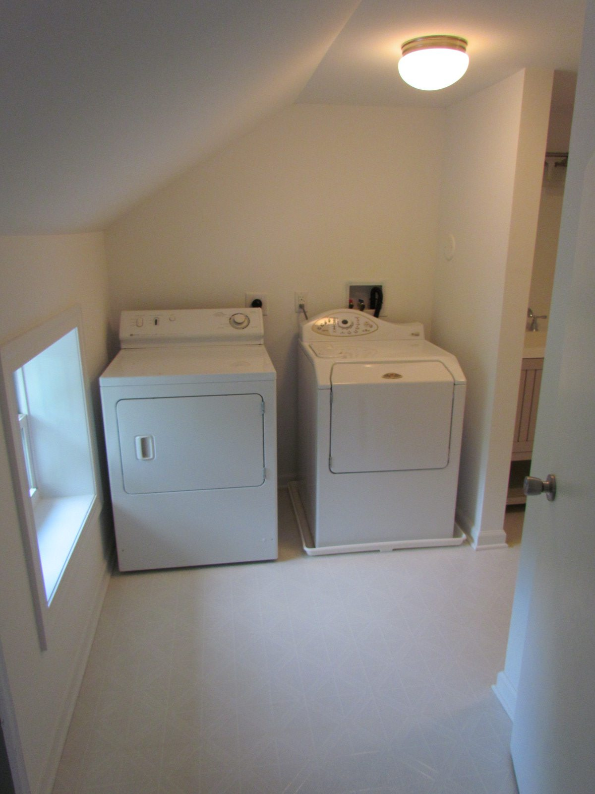 Historic Renovation Before And After laundry room after