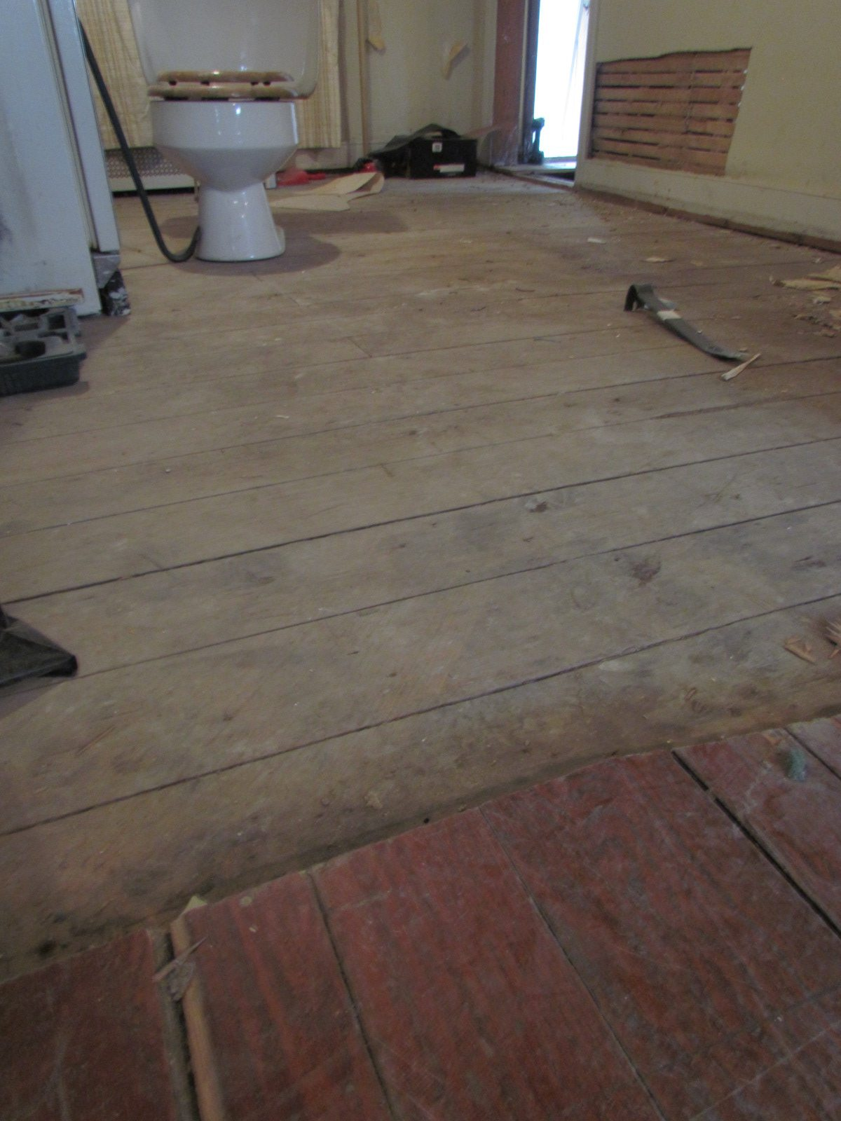 Historic Renovation Before And After dining room floor before