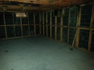 Fire Restoration Before basement