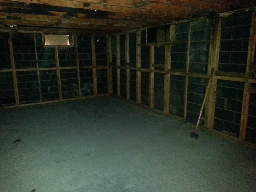 Fire Restoration Before basement