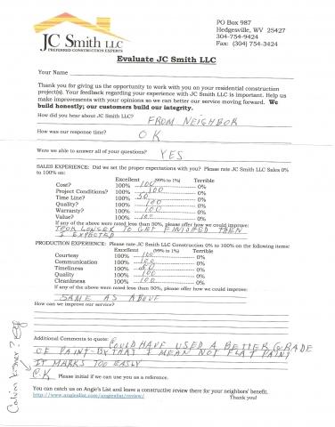 JC Smith Evaluation 6