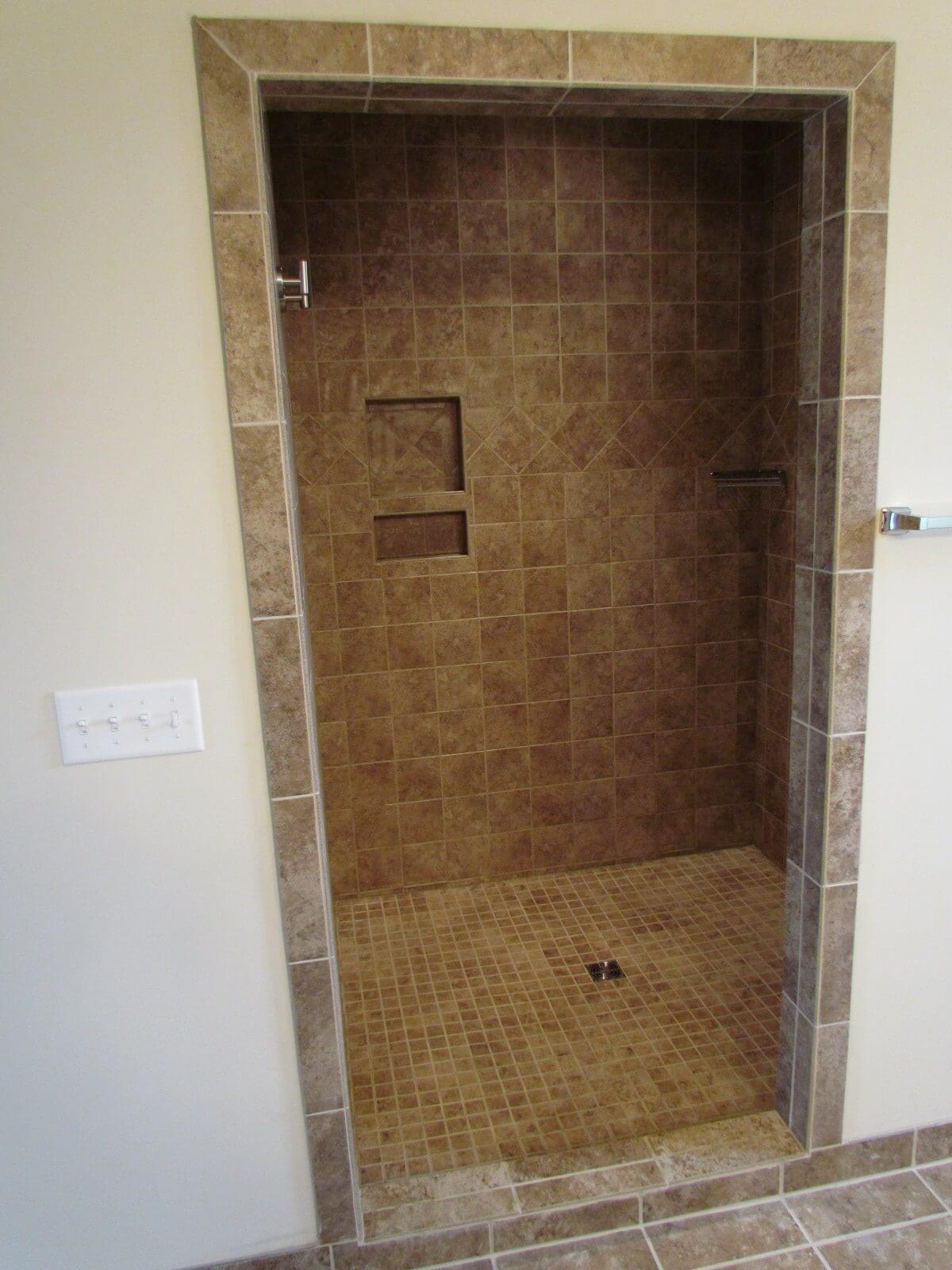 Primrose Custom Home stone shower