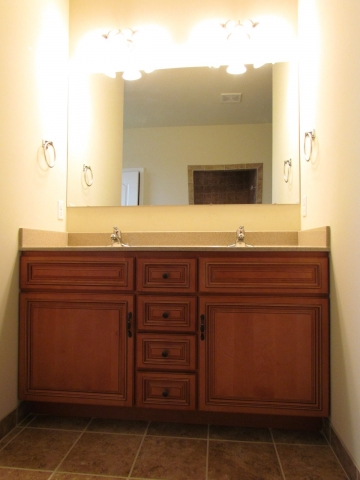 Primrose Custom Home bathroom double vanity