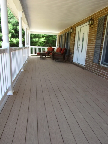 Front Porch composite and vinyl, floor After