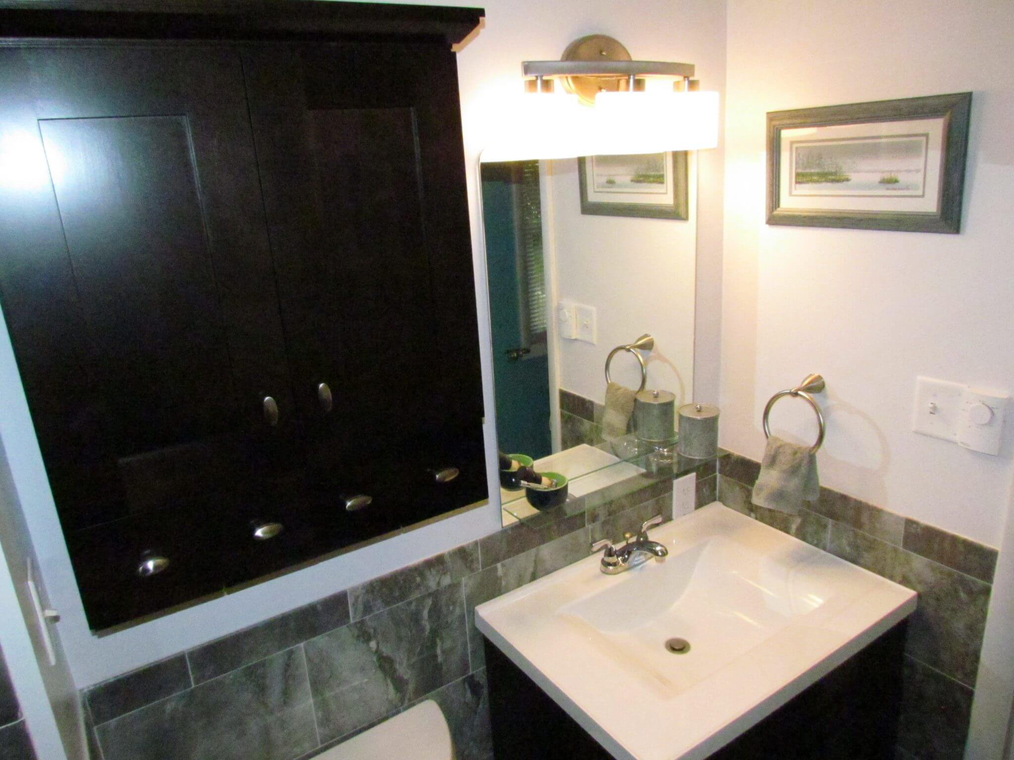 Bathroom Renovation sink and cabnet