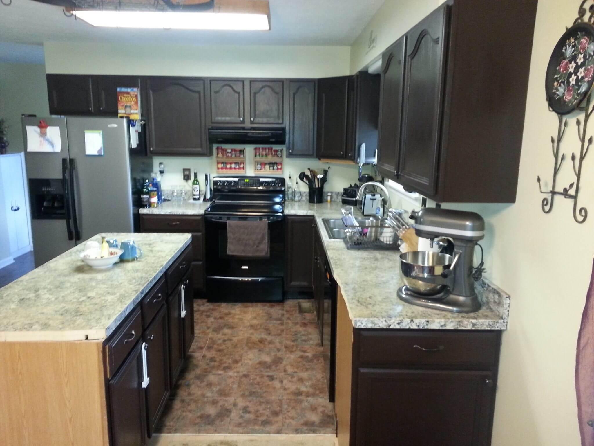 Kitchen Renovation Before side view