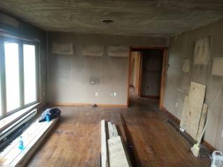 Fire Restoration Before living room