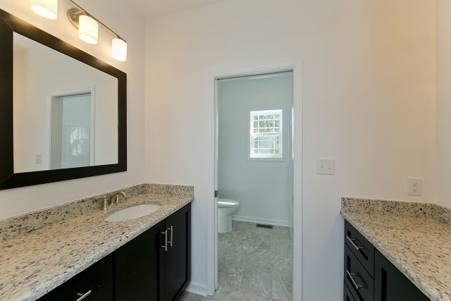 Custom Home 2017 bathroom with window