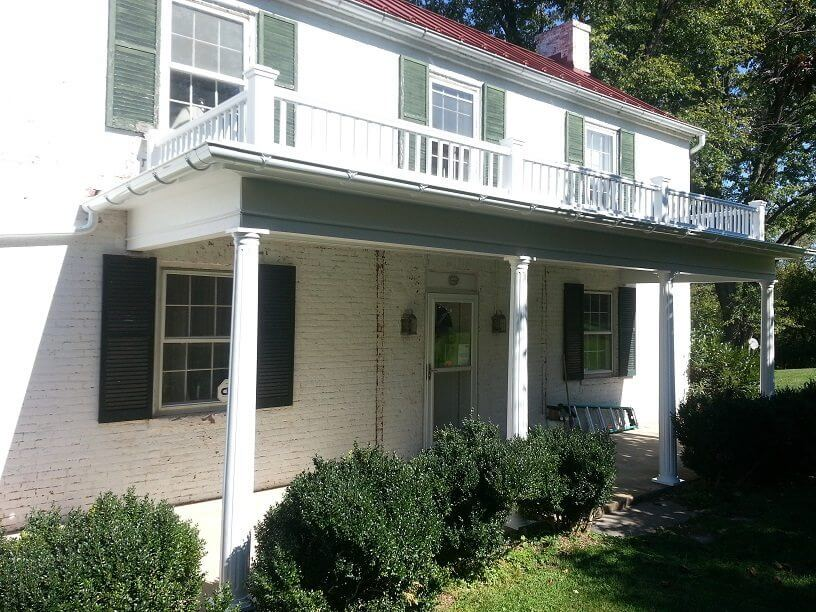 Historic Porch Restoration Before