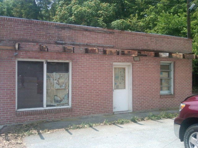 Small Commercial Building Exterior before front