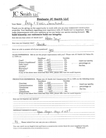JC Smith Evaluation 3
