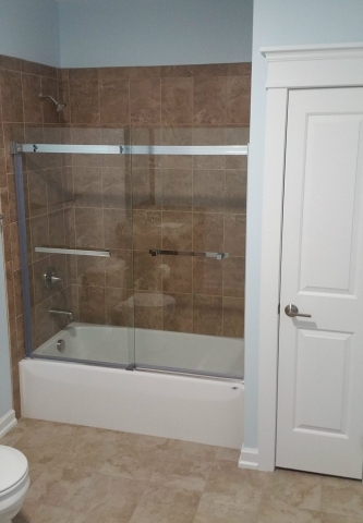 Custom Home With In-Ground Pool shower