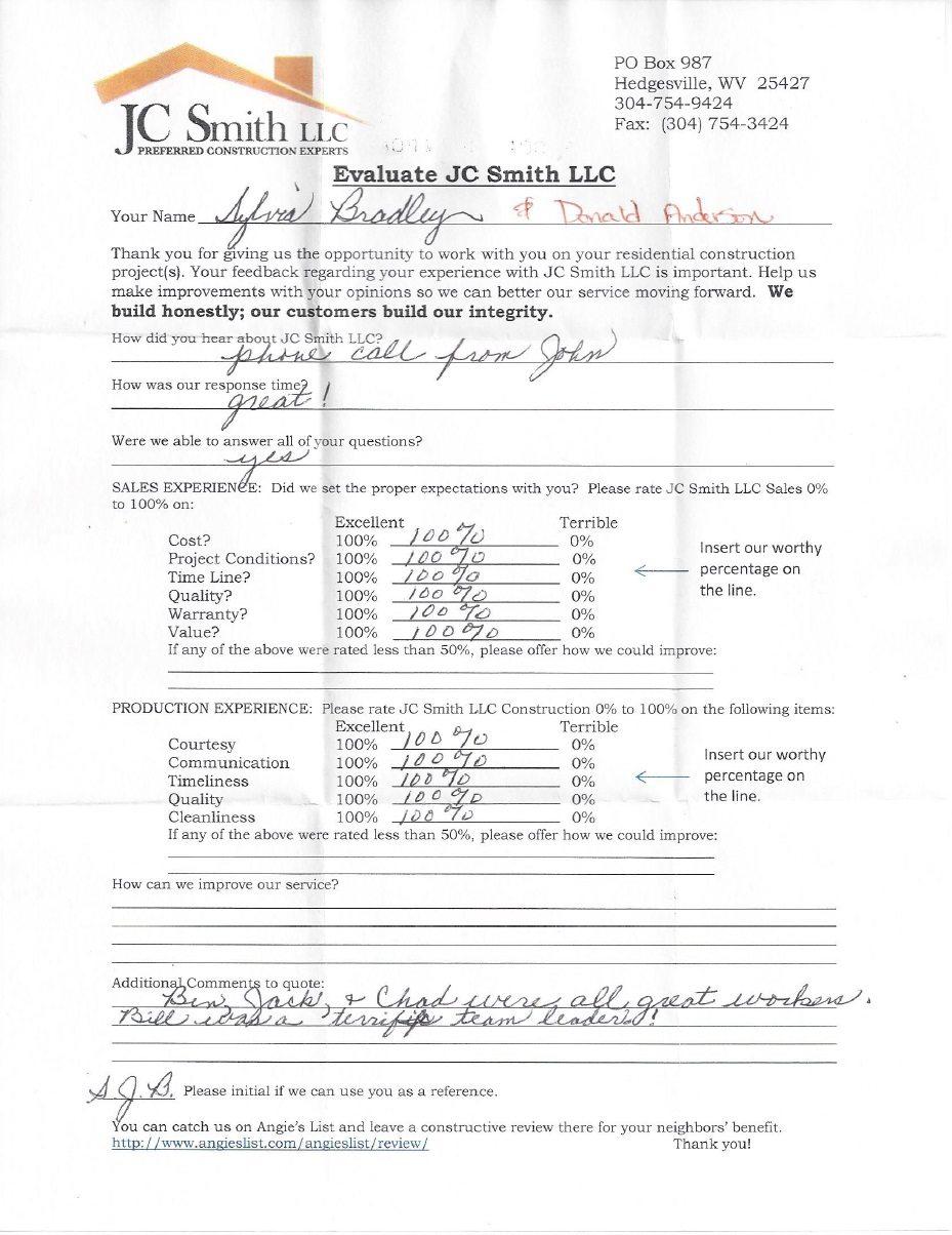 JC Smith Evaluation 4