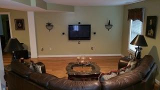 Disaster Restoration - Basement living room rear
