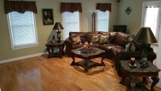 Disaster Restoration - Basement living room front
