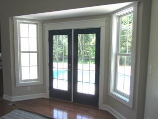 Custom Home With In-Ground Pool back door