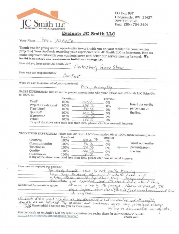 JC Smith Evaluation 9