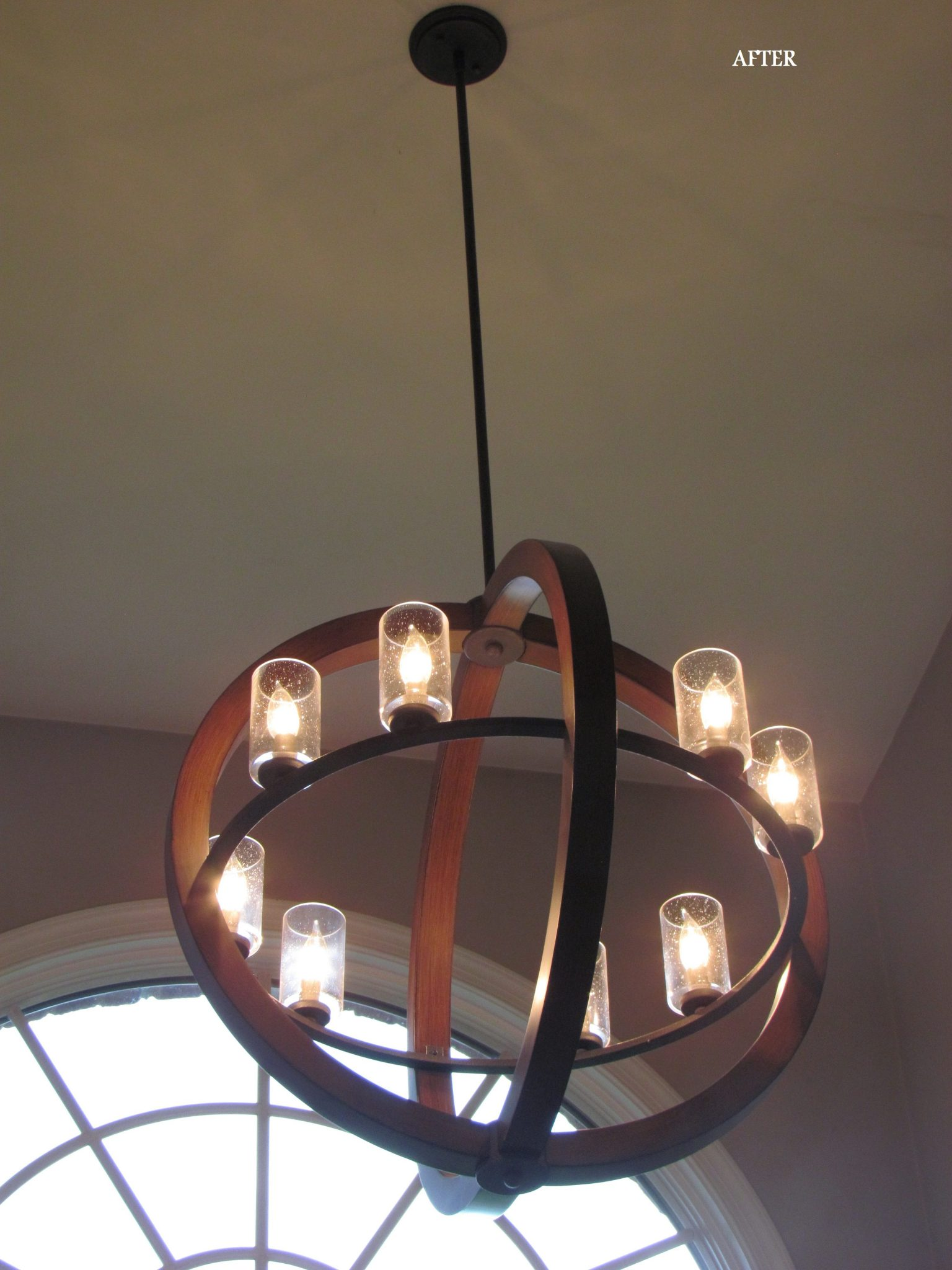 Main Level Modern Updates foyer light after on