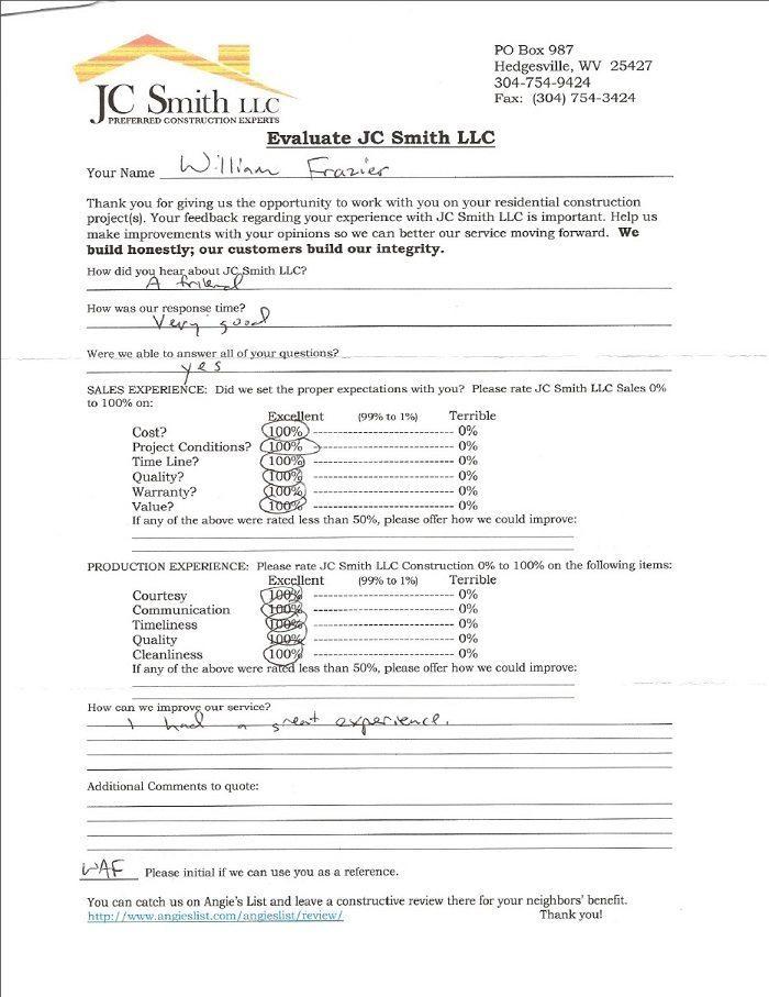JC Smith Evaluation 10