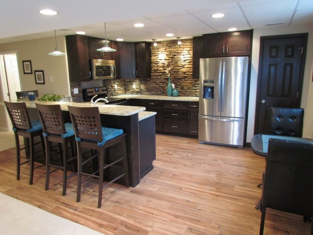 Award Winning Finished Basement kitchen