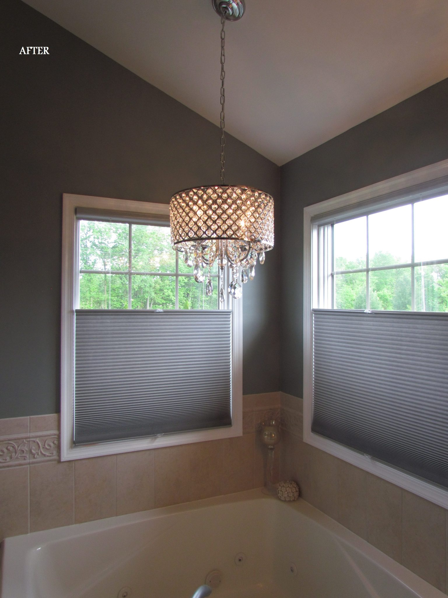 Main Level Modern Updates bathroom light after
