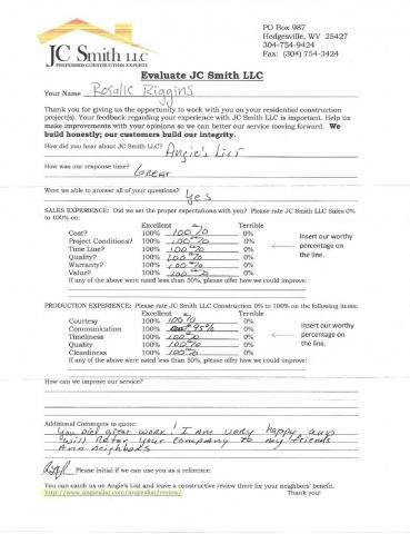 JC Smith Evaluation 18