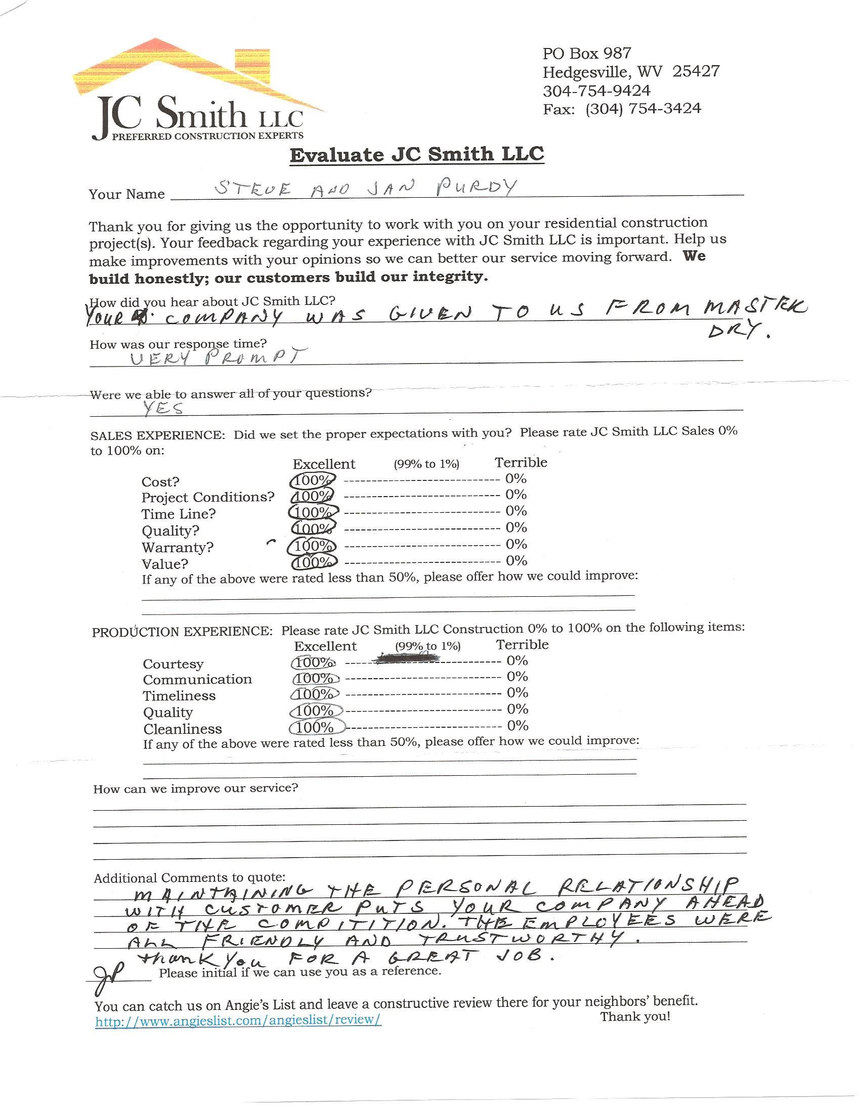 JC Smith Evaluation 26