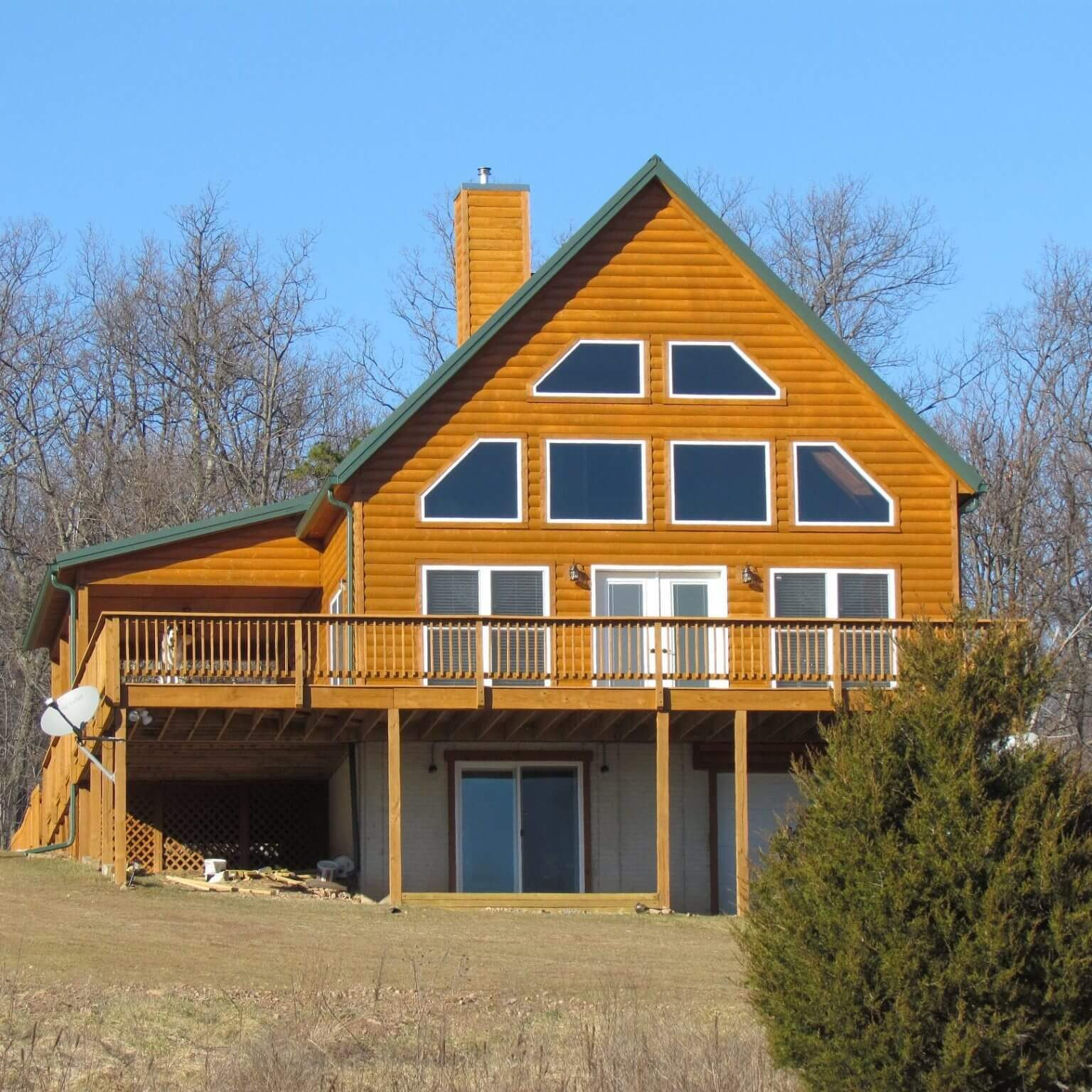 A-Frame Cedar Siding Custom Home main image